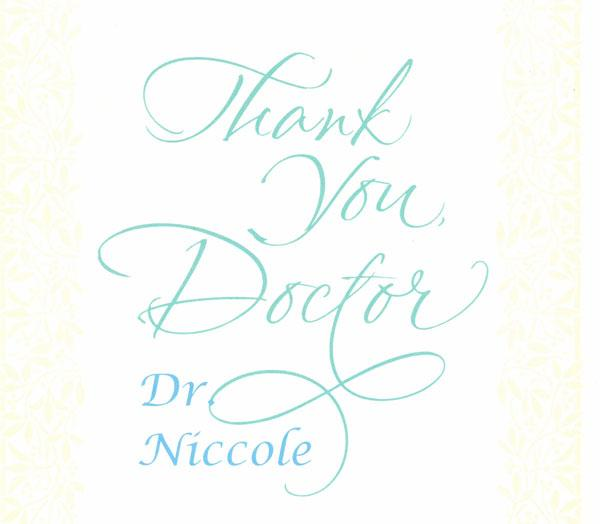 Thank You Card: Wendy
