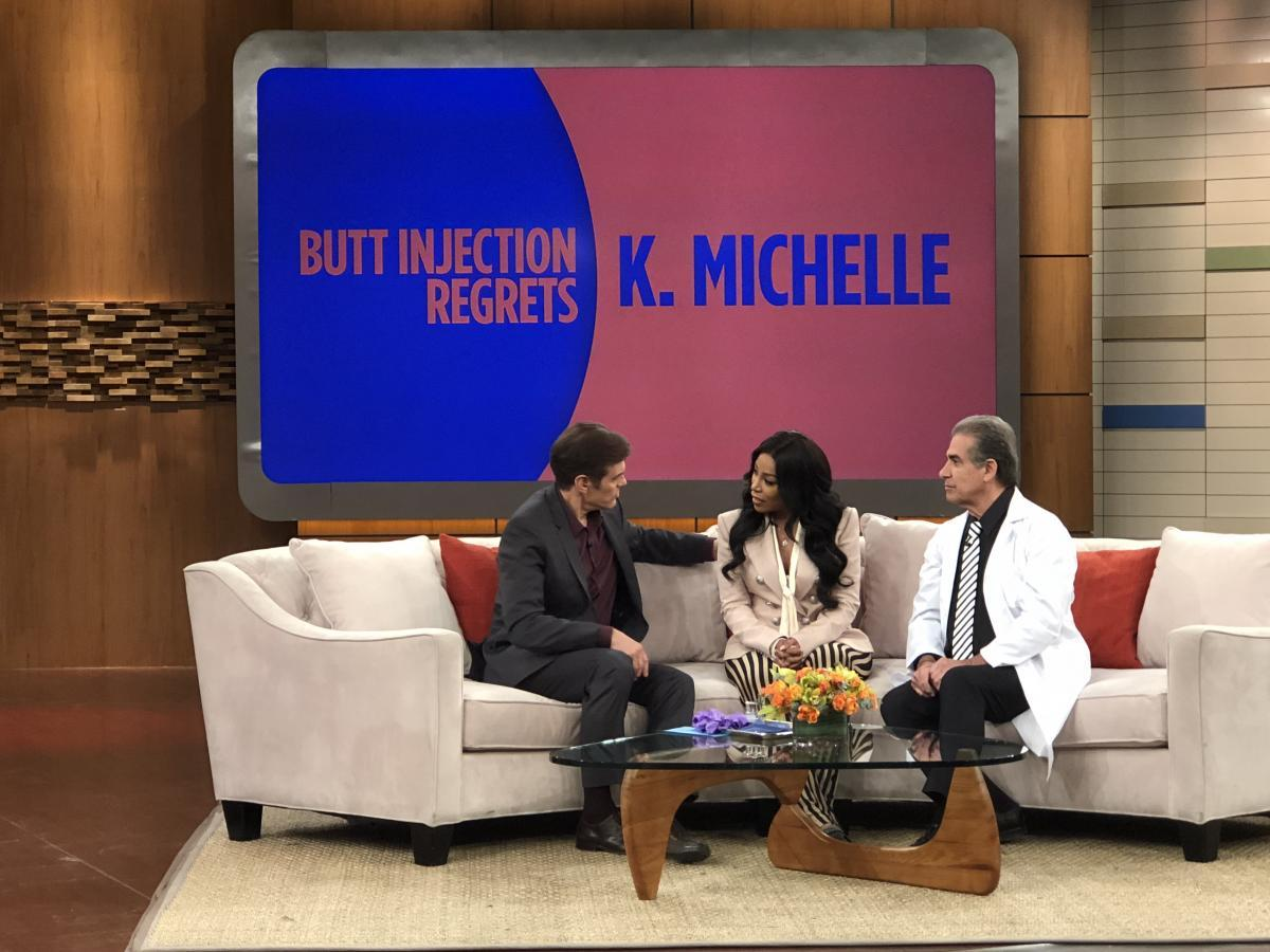 K. Michelle on The Doctor Oz Show with Dr. Niccole discussing butt implants
