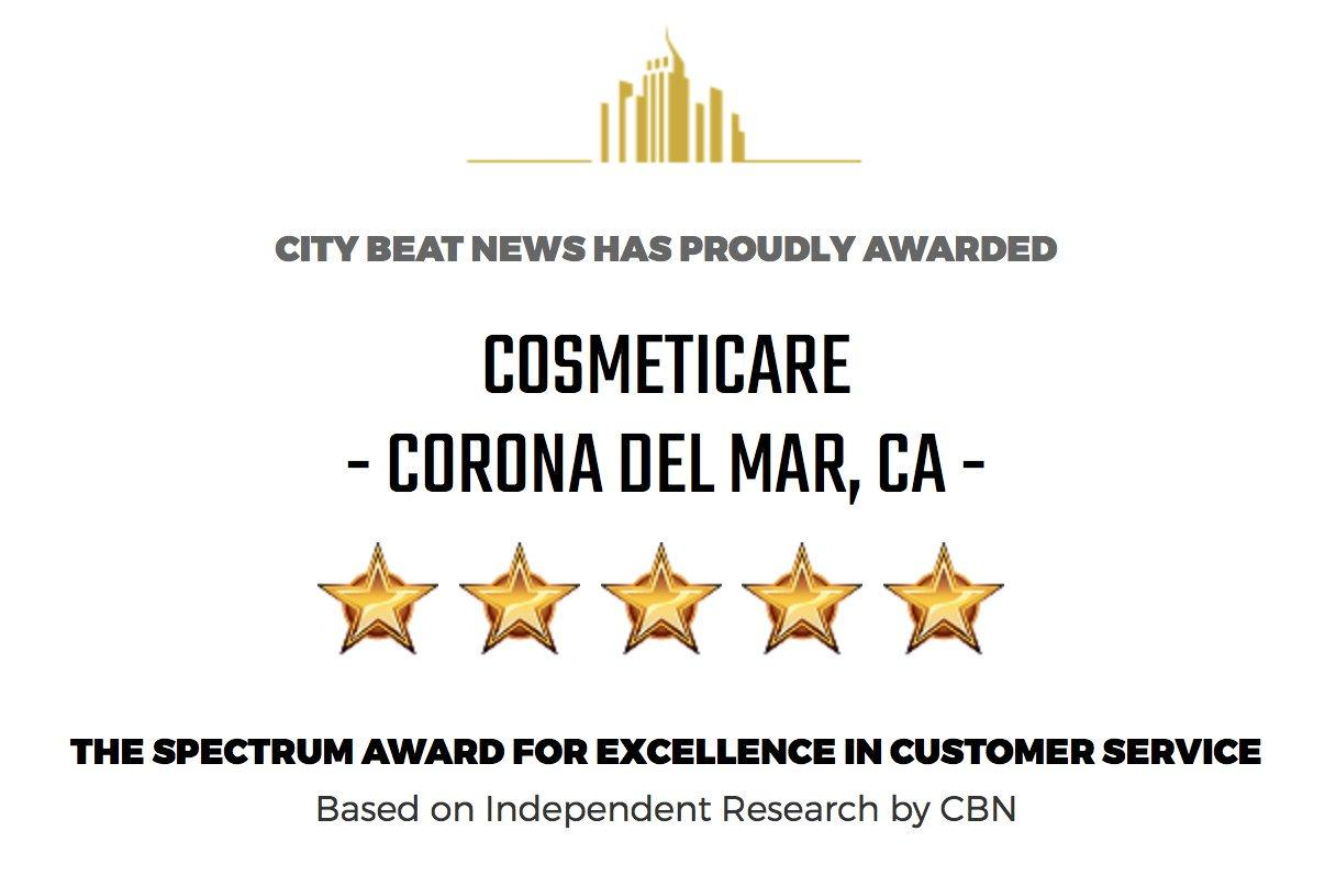 CosmetiCare Honored By City Beat News 2018 Award