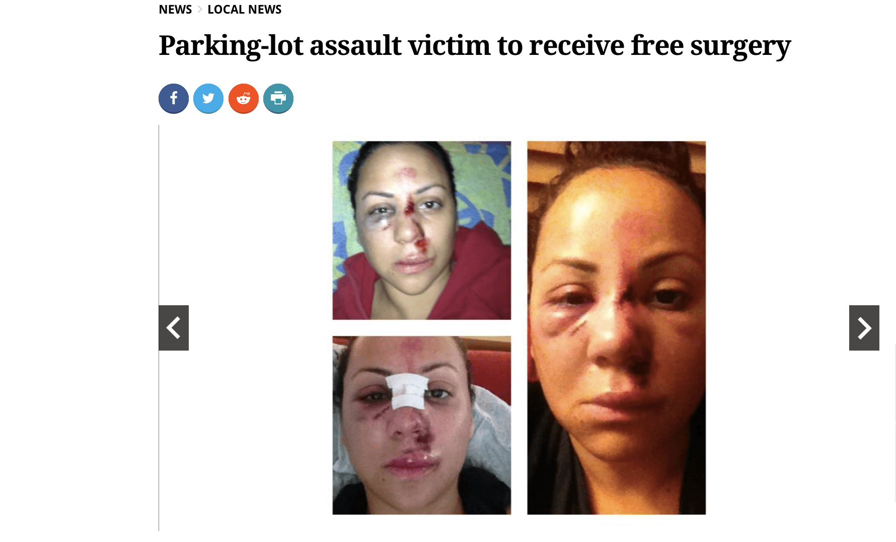 CosmetiCare Docs Donate Surgery to Parking Lot Assault Victim