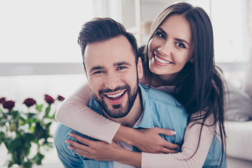 happy couple after dual-sculpting treatment